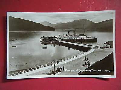 Inverary: Steamer At Pier - Scarce Spencer Real Photo Postcard!