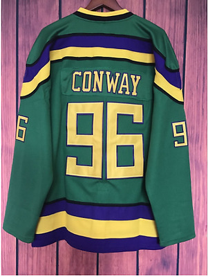 Vintage Mighty Ducks Movie Jersey | Conway #96 | XL, L, M, S | Green