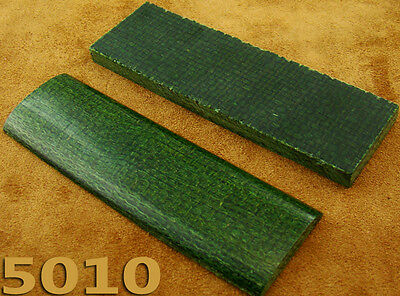 Pair of Green Canvas Micarta Scales Knife Handle Making Blanks Craft 5010