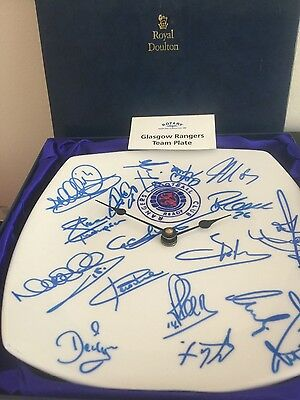 Glasgow Rangers Team Signed Plate