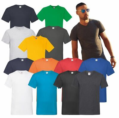 Fruit of the Loom Men's Valueweight V Neck T Plain Cotton Casual Tee T-Shirt TOP