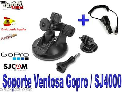 Pack Soporte Ventosa Vídeo Cámara DV SMILY DIRECT Deportiva + Cargador mechero