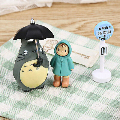 Totoro Figurine Japanese Collection Cartoon Toys Fairy Garden Ornament Beauty