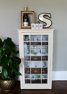 Vintage, Glass Display Cabinet, Cupboard, Home Bar