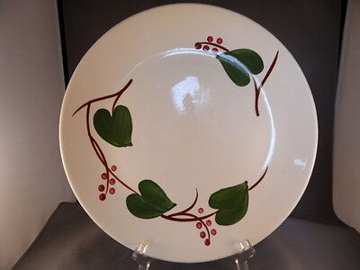 "Vintage Blue Ridge Pottery Hand-Painted Ivory 10"" Dinner Plate Stanhome Ivy 4325"