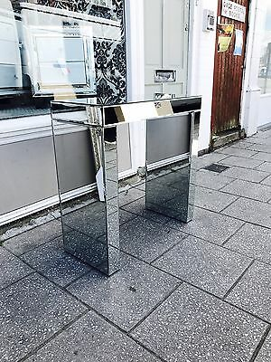Brand New Venetian Mirrored Contemporary Hall Table Console Table