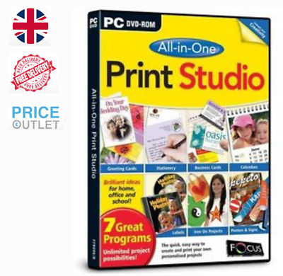 Print Studio All-in-One 7 Programs for PC - BRAND NEW SEALED (F10