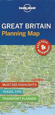 Lonely Planet Great Britain Planning Map *FREE SHIPPING - NEW*