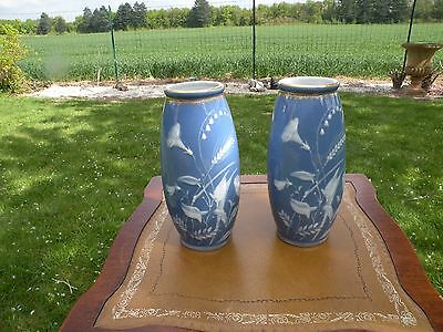 Magnificent pair of French porcelain vases Limoges
