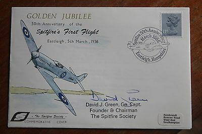 First Day Cover 50th Anniversary of the Spitfire (First Flight) signed