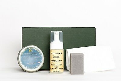 COLOURLOCK Leather Cleaner & Wax Kit to clean and condition glossy leather