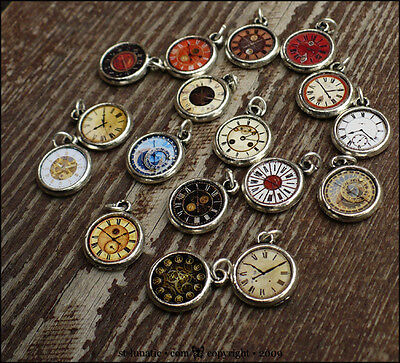 Wonderland~ 1:12 Miniature 1:6 Doll Watch Clock Charm - PICK ONE out 17 designs