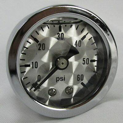 Machined Face Motorcycle Oil Pressure Gauge Shock Proof 60lbs Chopper Bobber USA