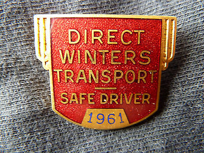1961 DIRECT Winter Transport Safe driver Pin!!!