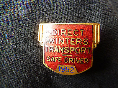 1952 DIRECT Winter Transport Safe driver Pin!!!