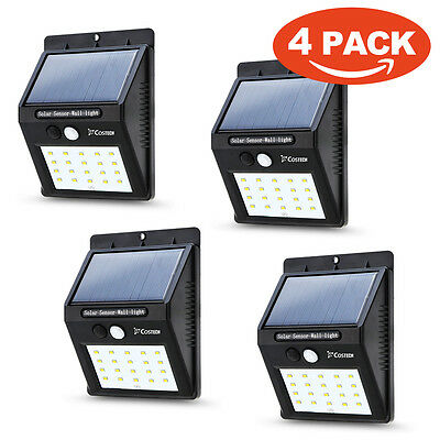 2X Solar Power Sensor Wall Light 20LED Security Motion Weatherproof Outdoor Lamp