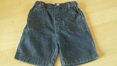 Baby boys denim shorts approx 3-6 months