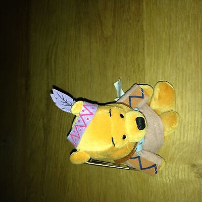 Disney UK Indian Pooh  Mint with Tag protected collection Bean Bag Beanie