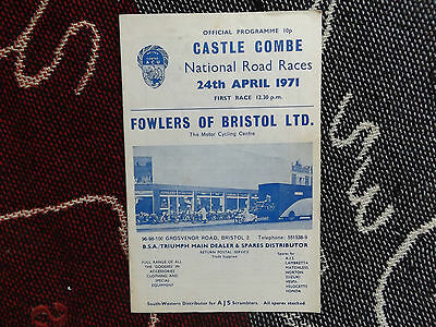 1971 Castle Combe Programme 24/4/71 - National Road Races