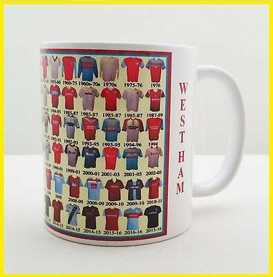 West Ham Mug Football shirt history New Gift