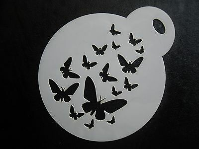 Laser cut small fading butterflies design cookie, craft & face painting stencil