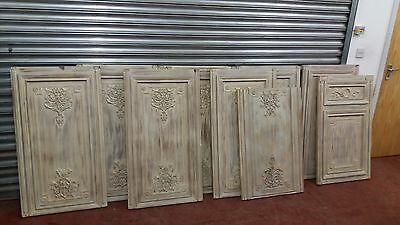A Quantity Of Ornate Painted Classical Style Panelling 11 Pieces In Total