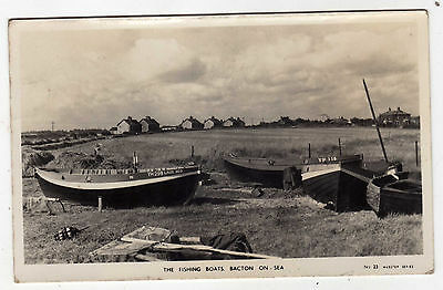 Norfolk, Bacton On Sea, The Fishing Boats, General View, Rp