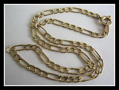 "Fine Solid Gold Bracelet Hallmarked Italy 9Kt Gold Chain Link 8 1/2"" Long"