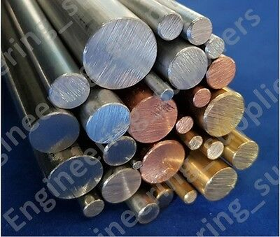 3, 4, 5, 6, 8, 10 & 12mm Aluminium, Brass & Stainless Steel Metal Solid Rod Bar
