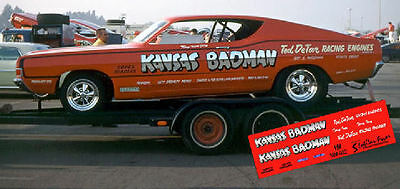 CD_MM_022 Terry Ivey   Kansas Badman 1968 Ford Torino  1:24 Scale Decals