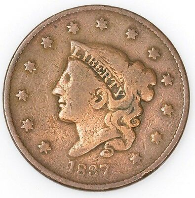 1837 Coronet Head One Cent PCGS 1735 True $1 Auction