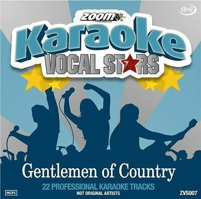 Zoom Karaoke Vocal Stars Gentlemen Of Country CD + G New Sealed