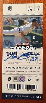 Max Scherzer Detroit Tigers Signed 20th Win Season Ticket Cy Young MLB HOLO