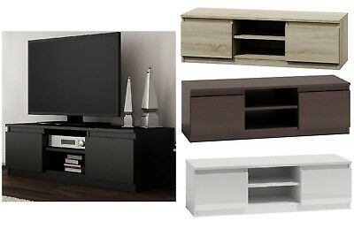120cm wide TV Unit in a choice of 4 colours Light Oak, Black, White ,Wenge Brown