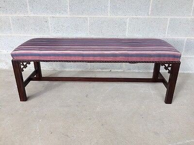 Hickory Chair Quality Vintage Chippendale Style Window Bench/bedroom Bench