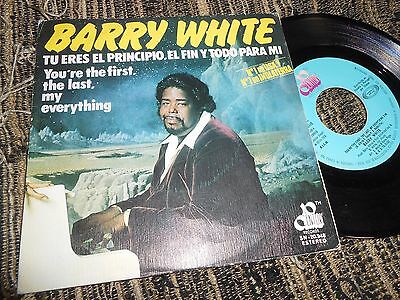"Barry White You're The First.the Last,my Everything/+1 Single 7"" 1974 Spain"