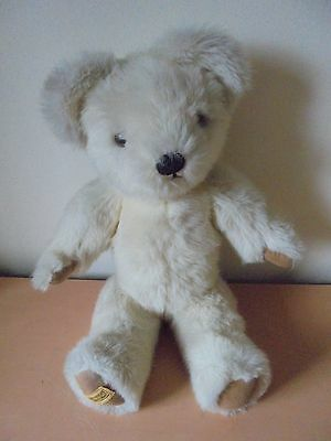 """Vintage Merrythought Beige Musical Teddy Bear 18"""" Working Jointed"""