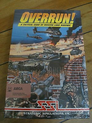OverRun! For Commodore Amiga, NEW FACTORY SEALED, SSI