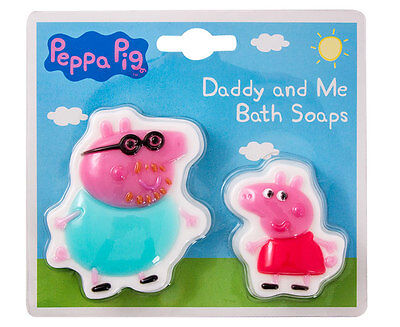 Peppa Pig Daddy and Me Bath Soaps 2 Characters Gift Set Pink Brightly Coloured