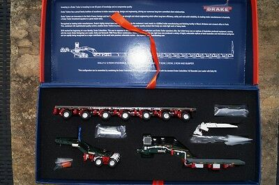 """Drake   Drake 2x8 Dolly and 7x8 Steerable Low Loader Trailer   """" Membrey""""  limit"""