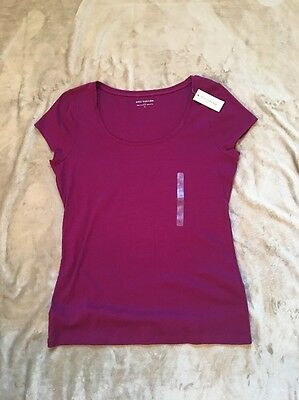 Ann Taylor Women's Short Sleeves Top NWT size L Purple