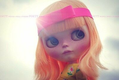 "Custom Neo Blythe Doll By Forty Winks Doll Studio ""Sunny"" Simply Mango Base 💕💕"
