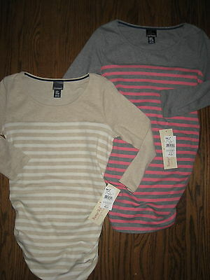 NEW Motherhood Oh Baby maternity womens small top blouse lot shirt striped