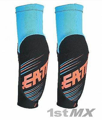 Leatt 5.0 3DF Elbow Guards Blue Orange Motocross Race Enduro Adults XLarge PAIR