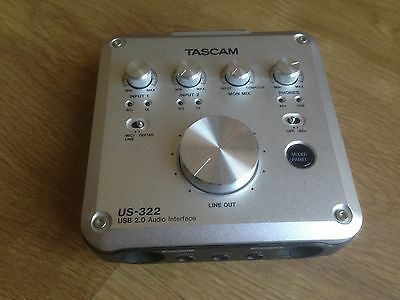 Audio Interface Tascam US-322,Very Good Conditions.No Box,only interface+usb