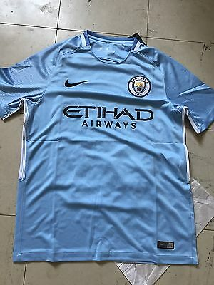 Maillot Football Manchester City Nike Dri-fit 2017/2018 Domicile Taille M