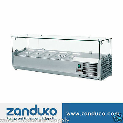 """Omcan 40536 56"""" Commercial Refrigerated 5 Pan Topping Rail RS-CN-0005-P"""