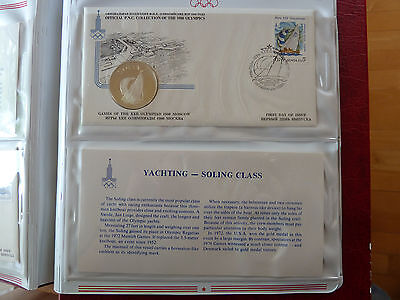 1980 Moscow YACHTING-SOLING CLASS Silver medal +FDC Stamp +descriptive sheet!!