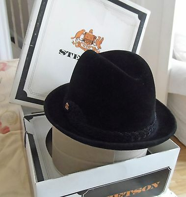 Vintage Stetson Hat with original box appears  unused