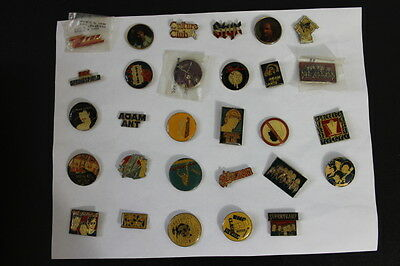 Mixed Lot 29 Vintage Rock Band Enamel Pins 80s 90s Culture Club POLICE Blondie